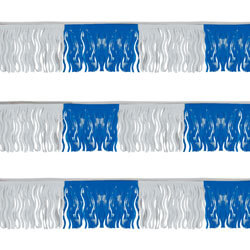 Blue/White Fiesta Fringe String Pennants, FBPP0000012981