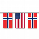 Norway & U.S. String Pennants