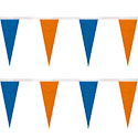 Blue and Orange Icicle String Pennants