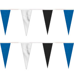 Blue/White/Black Heavy Duty String Icicle Pennants, FBPP0000009769