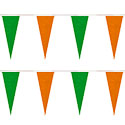 Green/Orange Heavy Duty String Icicle Pennants