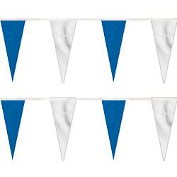 Blue/White Heavy Duty String Icicle Pennants, FBPP0000009764