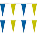 Blue Yellow String Icicle Pennants, PENNSP550O