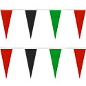 Red/Black/Green Heavy Duty String Icicle Pennants