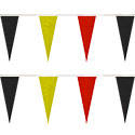 Red/Black/Yellow Heavy Duty String Icicle Pennants