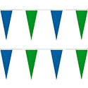 Blue and Green Icicle String Pennants
