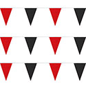 Red and Black Heavy Duty String Pennants
