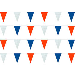 Red White Blue String Pennants, PENNSPCR100I