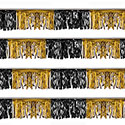 Black and Gold Starburst String Pennants