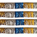 Gold/Silver/Blue Starburst String Pennants