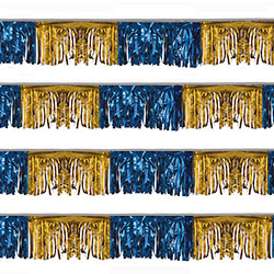 Blue and Gold Starburst String Pennants, FBPP0000009750