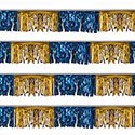 Blue and Gold Starburst String Pennants