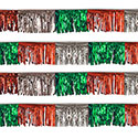 Red/Silver/Green Starburst String Pennants