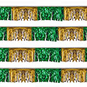 Green/Gold Starburst String Pennants