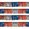 Red/Silver/Blue Starburst String Pennants