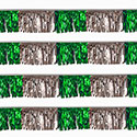 Green/Silver Starburst String Pennants
