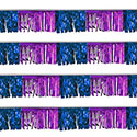 Purple/Blue Starburst String Pennants