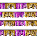Purple/Gold Starburst String Pennants