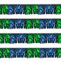 Blue and Green Starburst String Pennants