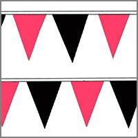 String Pennant Flags with Pinks