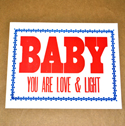 Baby, Love & Light Poster, POSTERYDBABY