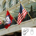 Outrigger Flagpoles (Tapered Shaft, Oval Bracket), FBPP0000013549