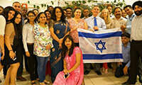 An Israeli flag signed by people in New Delhi. Photo courtesy of Ammunition Hill
