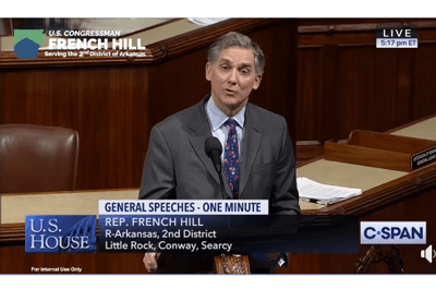 French Hill speaking on the House floor