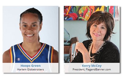 Hoops Green, Harlem Globetrotter and Kerry McCoy, Up In Your Business Radio Show