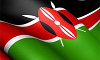 Kenyan flag graphic