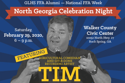 North Georgia Celebration Night FFA Alumni Poster