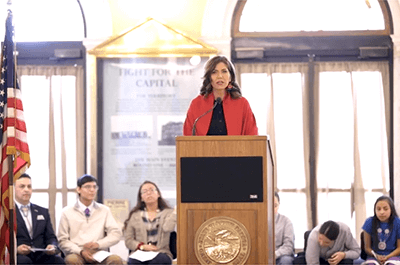 Noem announces plan to display tribal flags in the Capitol Rotunda