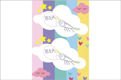 Ikea's new flag for Unicorn Day using Charlotte's design