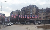 American Flag flying in Mitrovica © Marko Jaksic