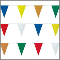 String Pennants in Rainbow Assortments