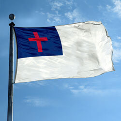 Christian Flag - Appliqued Nylon, FBPP0000009902