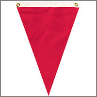 Colorful Single Pennant Flags
