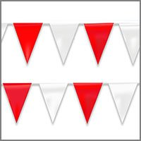 String Pennant Flags with Reds