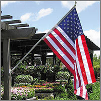 Residential House Mount Flag Poles