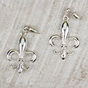 Silver Fleur de Lis Earrings, RSEFDL3