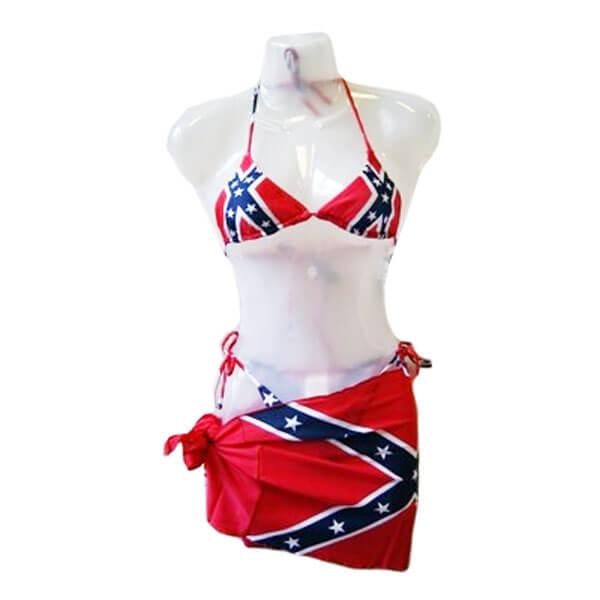 4112d74fa7 Confederate Battle Flag Wrap Bikini