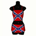 Confederate Tube Top Hipster Bottoms Bikini, RUFFBFTM