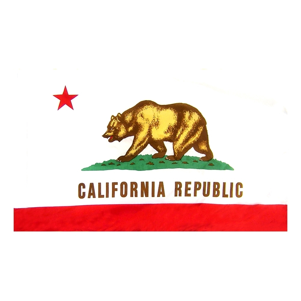 California Flag with Pole Hem, FBPP0000009840