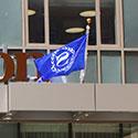 Custom logo flag for Sheridan hotels
