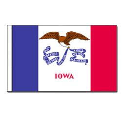 Iowa Flag with Pole Hem, FBPP0000010754