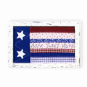 American Chic Framed Patchwork Flag, SIGN33403