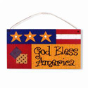 God Bless America Plaque, SIGN34196