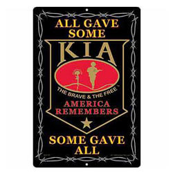 Killed In Action Kia Sign