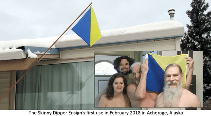 The skinny dipper flag first use in Anchorage, Alaska