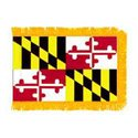 Maryland Fringed Flag with Pole Hem